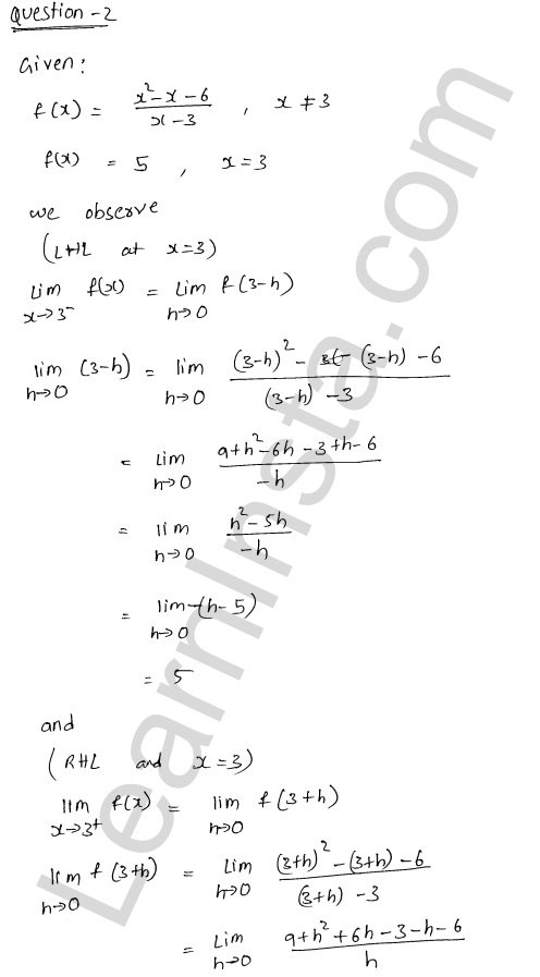 RD Sharma Class 12 Solutions Chapter 9 Continuity Ex 9.1 2