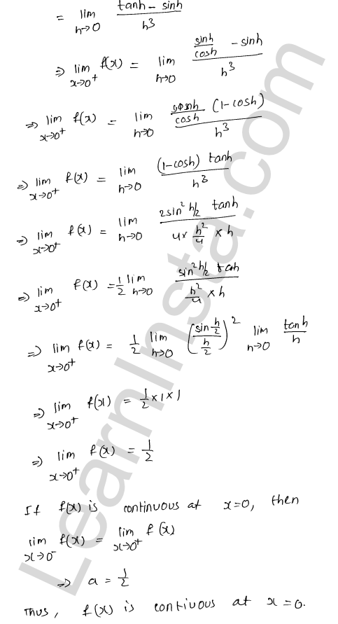 solution of RD Sharma class 12 chapter 9 Continuity Ex 9.1 21