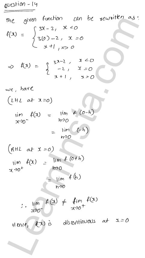 solution of RD Sharma class 12 chapter 9 Continuity Ex 9.1 22