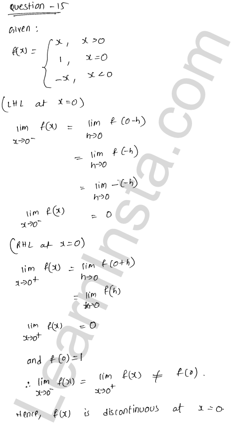 solution of RD Sharma class 12 chapter 9 Continuity Ex 9.1 23