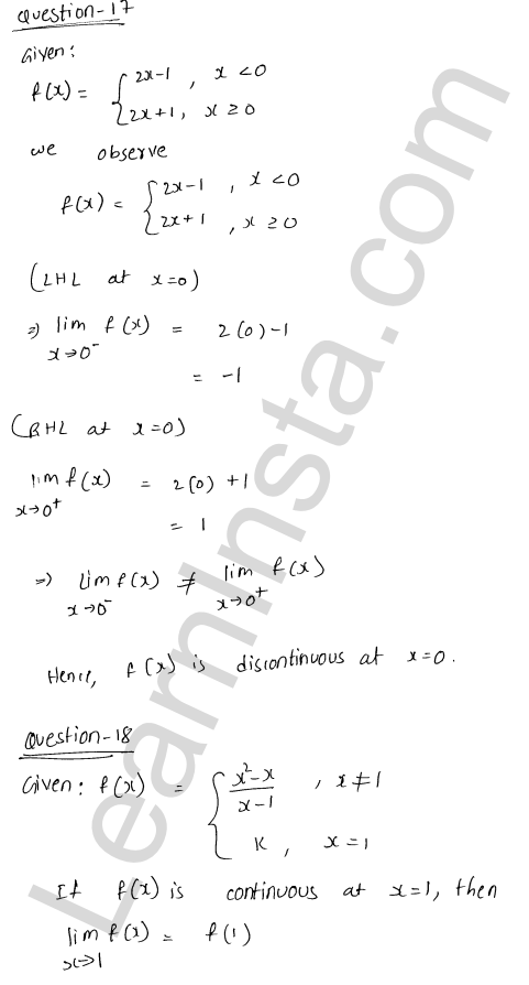 solution of RD Sharma class 12 chapter 9 Continuity Ex 9.1 25