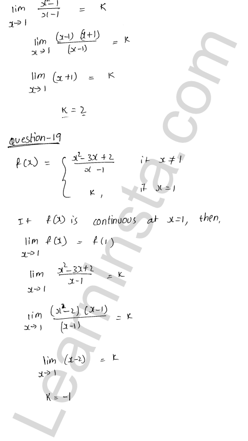 class 12 RD Sharma solutions chapter 9 Continuity Ex 9.1 26
