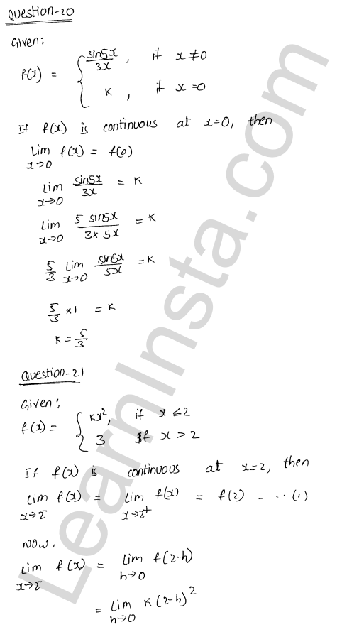 class 12 RD Sharma solutions chapter 9 Continuity Ex 9.1 27
