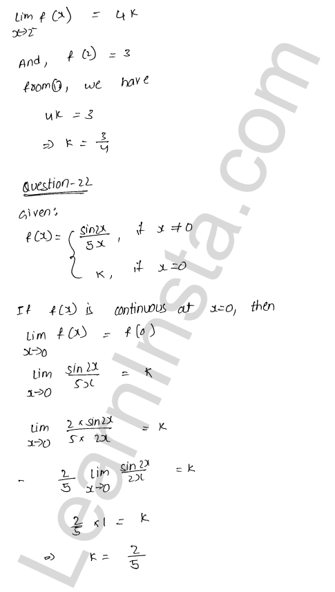 class 12 RD Sharma solutions chapter 9 Continuity Ex 9.1 28