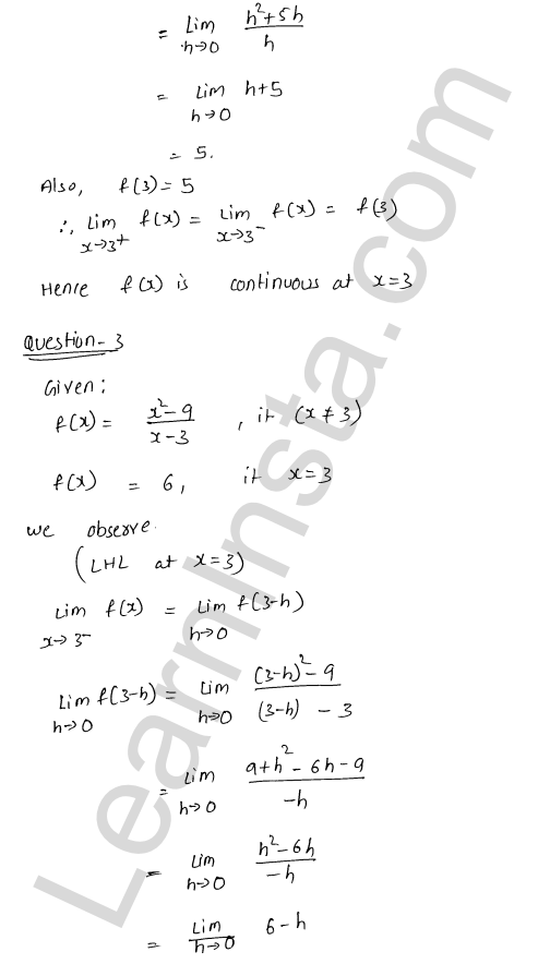 RD Sharma Class 12 Solutions Chapter 9 Continuity Ex 9.1 3