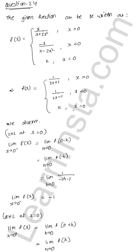 class 12 RD Sharma solutions chapter 9 Continuity Ex 9.1 30