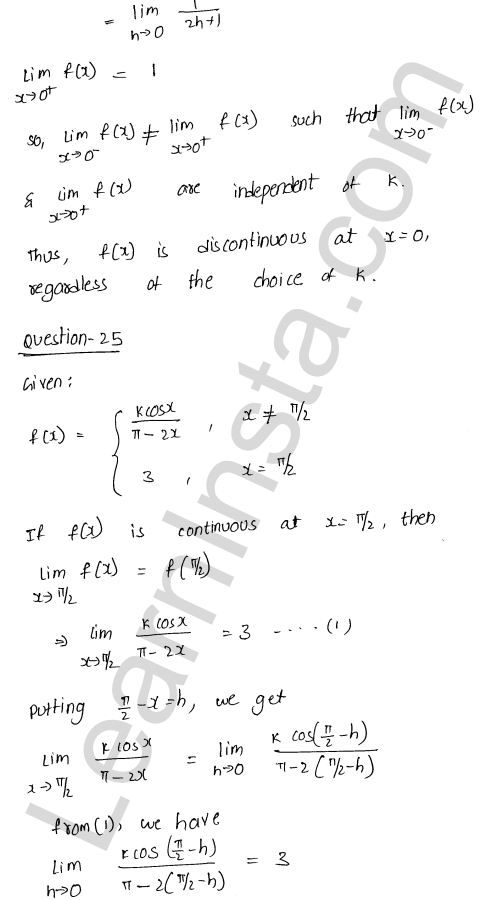 class 12 RD Sharma maths solutions chapter 9 Continuity Ex 9.1 31