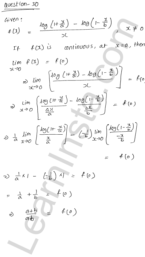 RD Sharma Class 12 Solutions Chapter 9 Continuity Ex 9.1 39