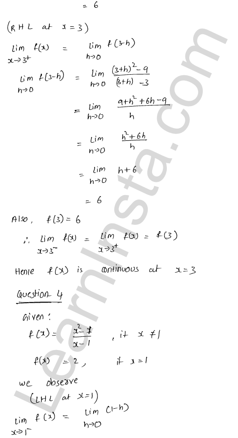 RD Sharma Class 12 Solutions Chapter 9 Continuity Ex 9.1 4