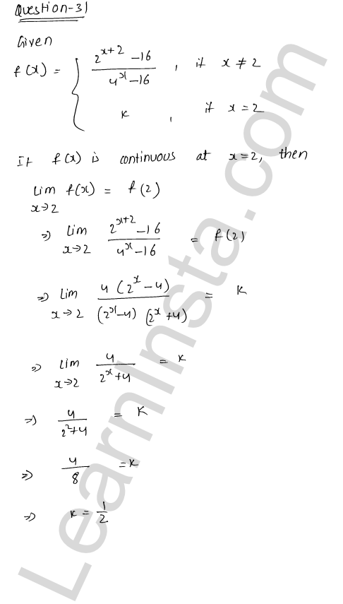 RD Sharma Class 12 Solutions Chapter 9 Continuity Ex 9.1 40