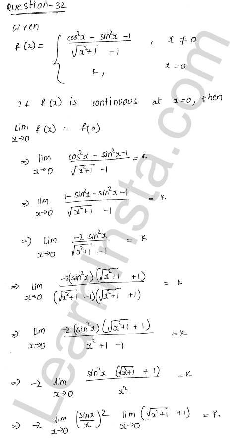 RD Sharma Class 12 Solutions Continuity Chapter 9 Ex 9.1 41