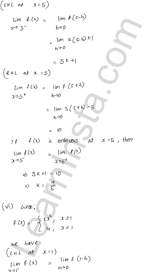 RD Sharma Solutions Class 12 Continuity Chapter 9 Ex 9.1 49