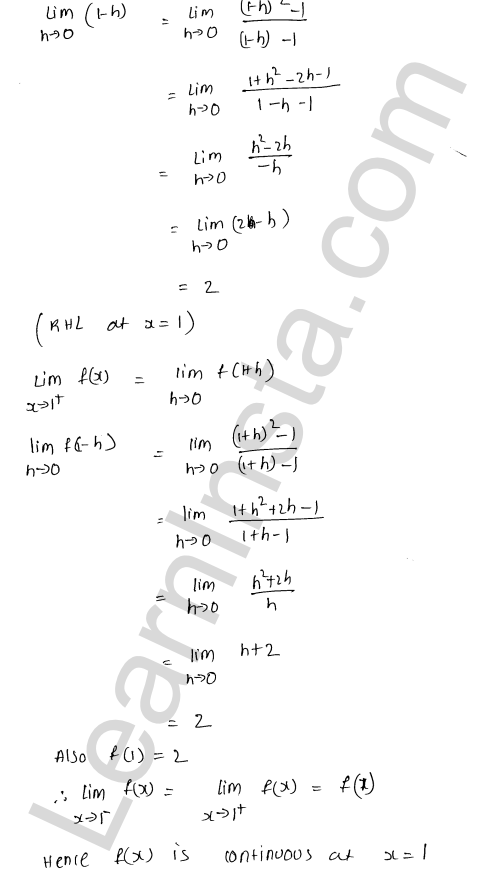 RD Sharma Class 12 Solutions Chapter 9 Continuity Ex 9.1 5
