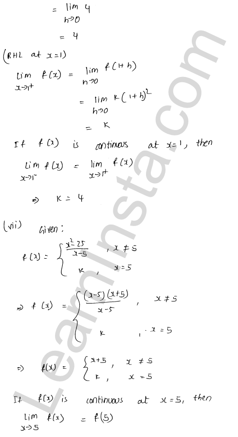 RD Sharma Solutions Class 12 Continuity Chapter 9 Ex 9.1 50