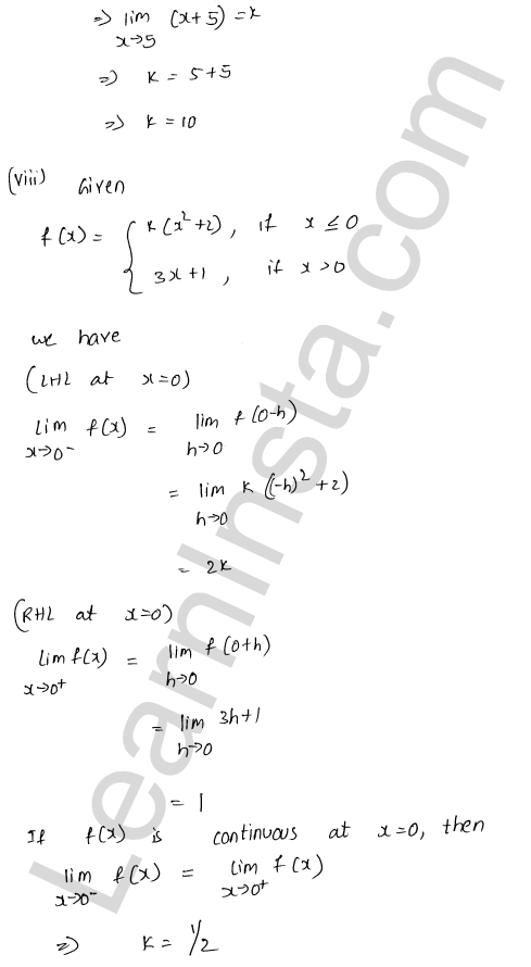 RD Sharma Solutions Class 12 Continuity Chapter 9 Ex 9.1 51