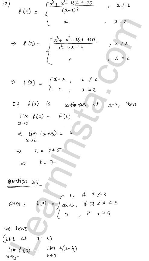 RD Sharma Solutions Class 12 Continuity Chapter 9 Ex 9.1 52