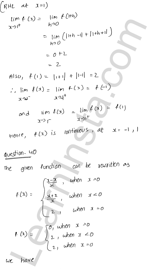 RD Sharma Class 12 Maths Solutions Chapter 9 Continuity Ex 9.1 58