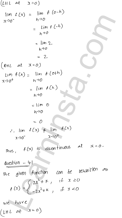 solution of RD Sharma class 12 chapter 9 Continuity Ex 9.1 59