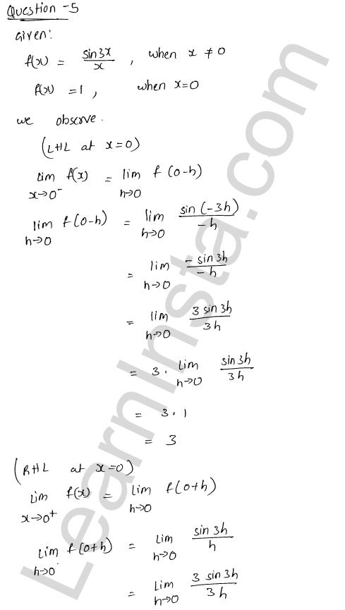 RD Sharma Class 12 Solutions Continuity Chapter 9 Ex 9.1 6