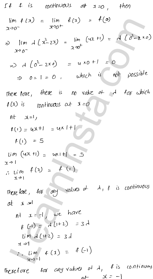 solution of RD Sharma class 12 chapter 9 Continuity Ex 9.1 61