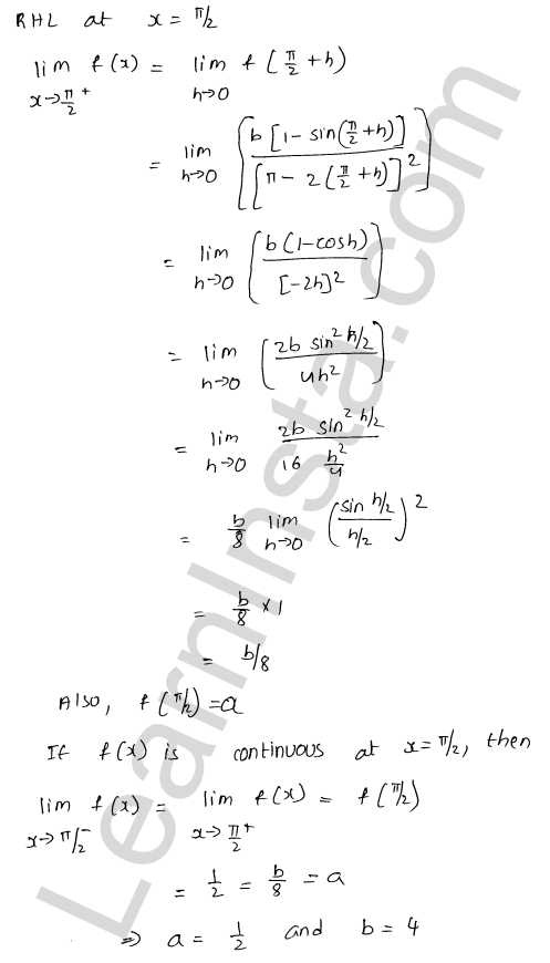 class 12 RD Sharma solutions chapter 9 Continuity Ex 9.1 64