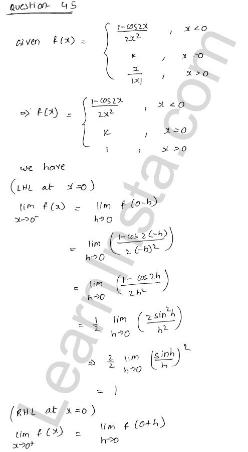 class 12 RD Sharma solutions chapter 9 Continuity Ex 9.1 65