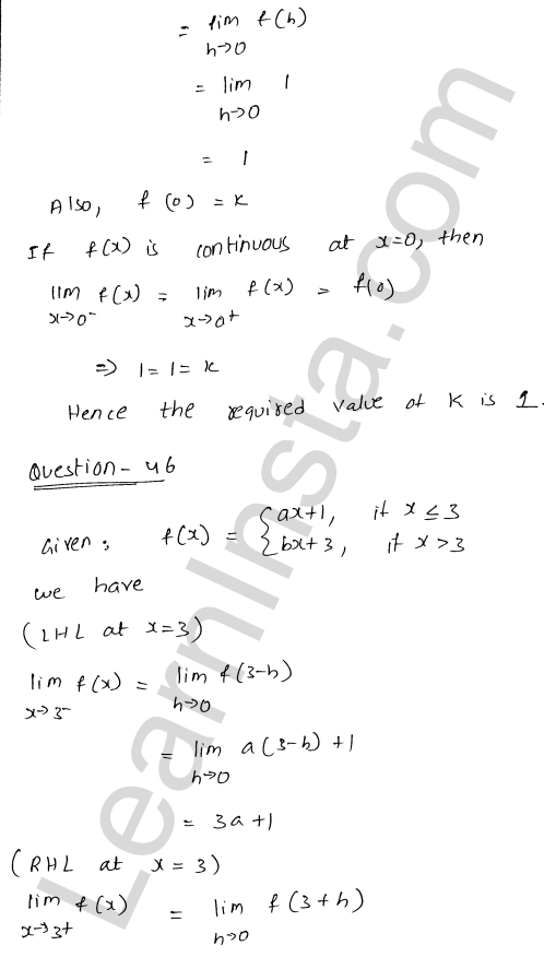 class 12 RD Sharma solutions chapter 9 Continuity Ex 9.1 66