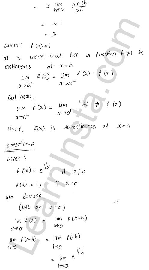 RD Sharma Class 12 Solutions Continuity Chapter 9 Ex 9.1 7