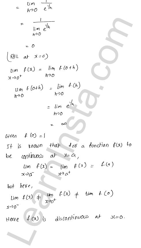 RD Sharma Class 12 Solutions Continuity Chapter 9 Ex 9.1 8