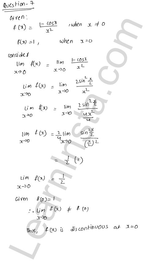 RD Sharma Class 12 Solutions Continuity Chapter 9 Ex 9.1 9