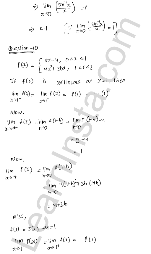 Class 12 RD Sharma solutions chapter 9 Continuity VSAQ 6