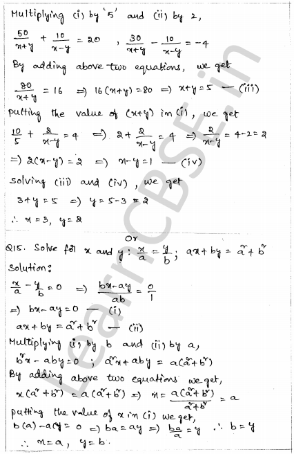 CBSE Sample Papers for Class 10 Maths Solved Paper 1 10