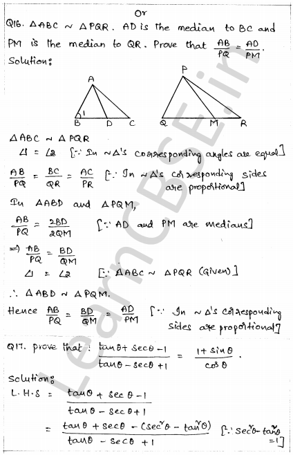 CBSE Sample Papers for Class 10 Maths Paper 1 12