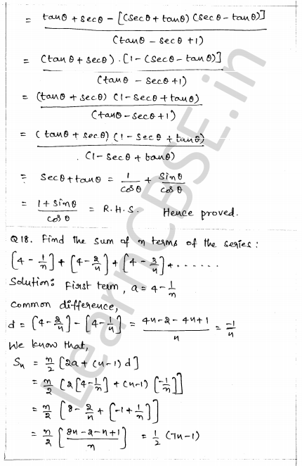 CBSE Sample Papers for Class 10 Maths Paper 1 13