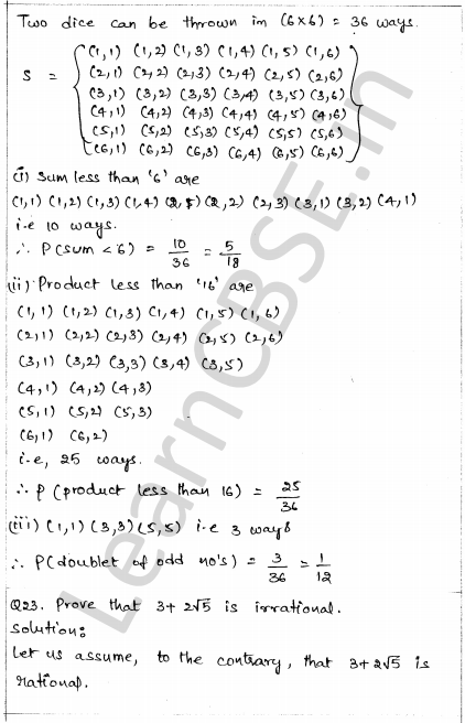 Sample Papers for Class 10 Maths Solved Paper 1 17