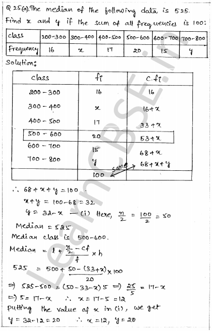 Sample Papers for Class 10 Maths Solved Paper 1 20