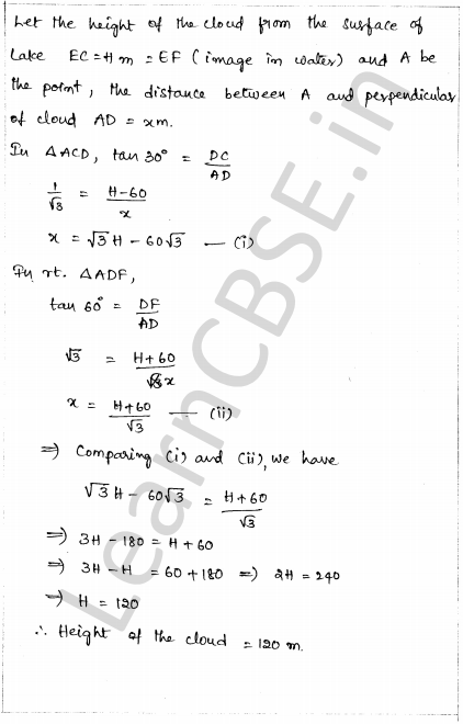 CBSE Sample Papers for Class 10 Maths Solved Paper 1 26