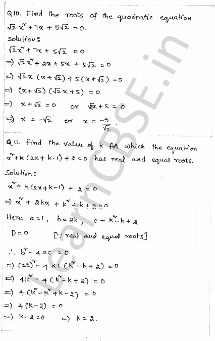 CBSE Sample Papers for Class 10 Maths Solved Paper 1 6