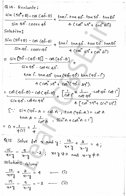 CBSE Sample Papers for Class 10 Maths Solved Paper 1 9