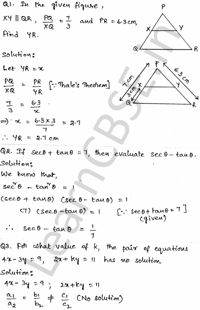 Solved CBSE Sample Papers for Class 10 Maths Set 2 1