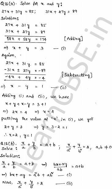 Sample Papers for Class 10 Maths Solved Set 2 10