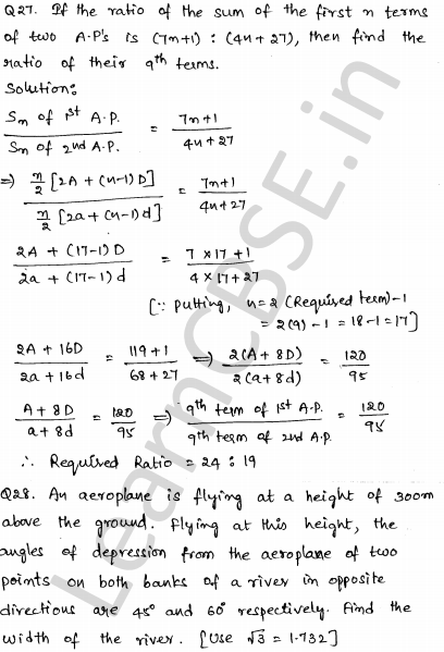 Maths Sample Question Papers for Class 10 Paper 2 23