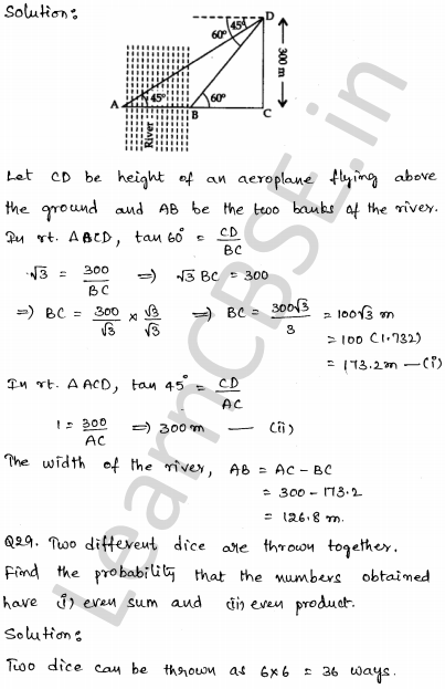 Maths Sample Question Papers for Class 10 Paper 2 24