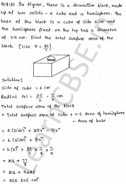 Solved Learning Goal To Apply The Bernoulli Equation To: Solved CBSE Sample Papers For Class 10 Maths Set 3