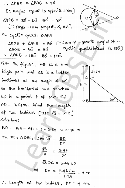 Solved CBSE Sample Papers for Class 10 Maths Paper 3 2
