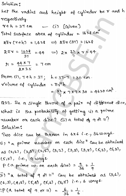 Maths Sample Papers for Class 10 Set 3 20