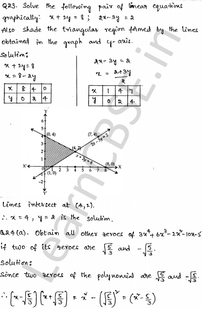 Solved CBSE Sample Papers for Class 10 Maths Set 3 - Learn CBSE