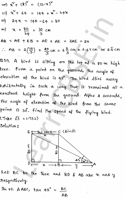 Maths Sample Question Papers for Class 10 Paper 3 29