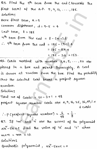 Solved CBSE Sample Papers for Class 10 Maths Paper 3 3