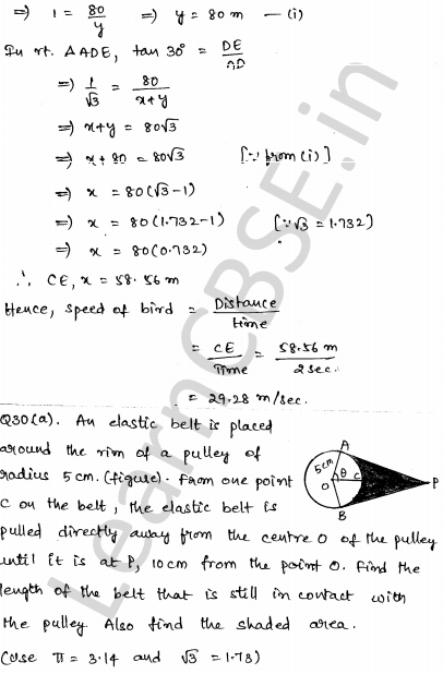 Solved CBSE Sample Papers for Class 10 Maths Paper 3 30
